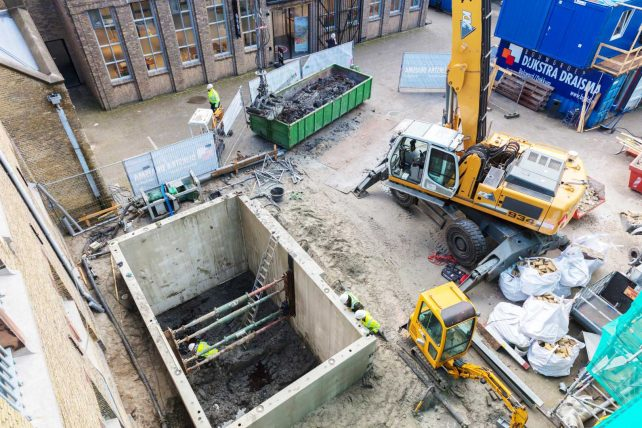 Kelderbouw Blokhuispoort Leeuwarden